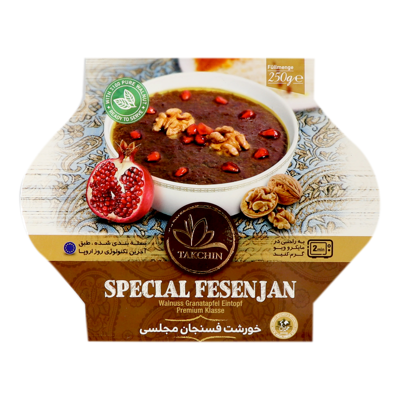Takchin Khoreshte Fesenjan Majlesi - Special Walnut Pomegranate Ready Meal(Microwave Oven Suitable) 250g