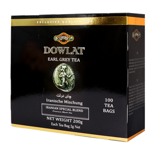 Dowlat Tea -  Aromatic Earl Grey - 100 Tagged Teabags