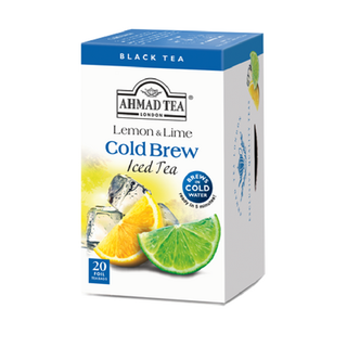 Ahmad Tea - Lemon & Lime  Cold Brew Iced Tea  20 FOIL...