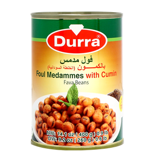 Durra Foul Modammes with Cumin -  Cooked Fava Beans with...