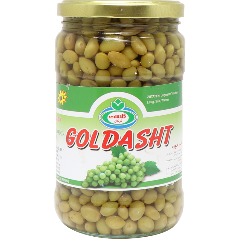 Goldasht Shoore Ghooreh -  Pickled Unripe Grapes 550g