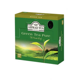 Ahmad Tea - Green Tea Pure - 100 FOIL Teabags