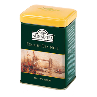 Ahmad Tea - English Tea No.1 - Loose Tea 100g Tea Caddy