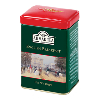 Ahmad Tea - English Breakfast - Loose Tea 100g Tea Caddy