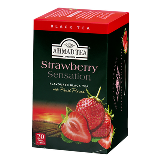 Ahmad Tea - Strawberry Sensation Tea - 20 FOIL Teabags