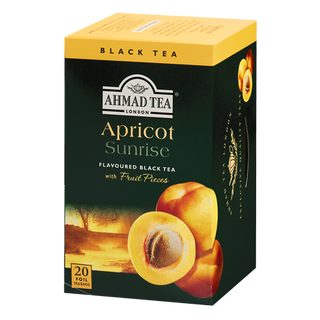Ahmad Tea - Apricot Sunrise Tea - 20 FOIL Teabags