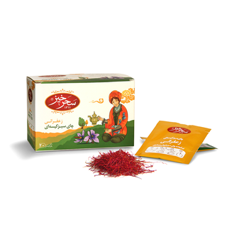 Saharkhiz - Green tea with saffron - 20 Tagged Teabags