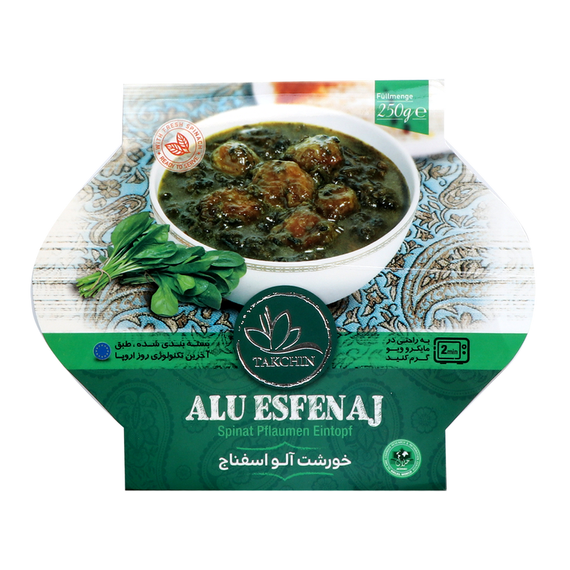 Takchin Khoresht Aloo Esfenaj - Plum Spinach Ready Meal (Microwave Oven Suitable) 250g