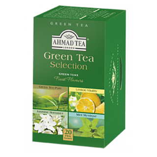 Ahmad Tea - Green Tea Selection - 20 FOIL Teabags
