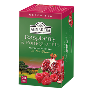 Ahmad Tea - Raspberry & Pomegranate Green Tea - 20 FOIL...