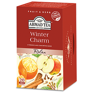 Ahmad Tea - Winter Charm Herbal Infusion Tea - 20 FOIL...