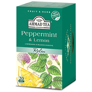 Ahmad Tea - Peppermint & Lemon Tea - 20 FOIL Teabags