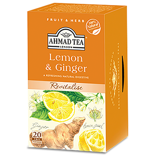 Ahmad Tea - Lemon & Ingwer Tea - 20 FOLIEN Teebeutel