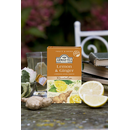Ahmad Tea - Lemon & Ginger Tea - 20 FOIL Teabags