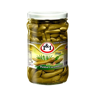 1&1 Khiarshoor - Pickled Mini Cucumber Salty - Grade.1  660g