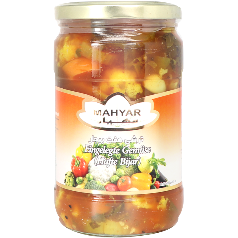 Mahyar Torshi Hafte Bijar - Pickled 7 Vegetables ,Sauer 680g
