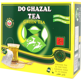 Do Ghazal (Alghazaleen) - Green Tea - 100 Tagged Teabags