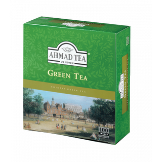 Ahmad Tea - Green Tea Pure - 100 Tagged Teabags