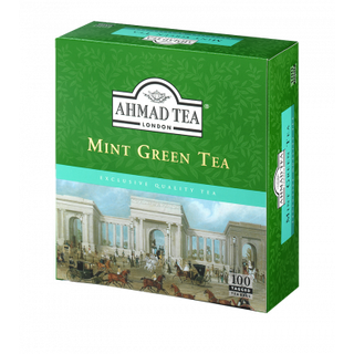 Ahmad Tea - Mint Green Tea - 100 Tagged Teabags