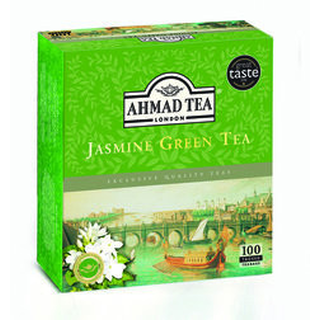 Ahmad Tea - Jasmine Grean Tea - 100 Tagged Teabags