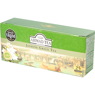 Ahmad Tea - Jasmine Green Tea - 25 Tagged Teabags