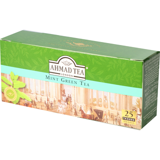 Ahmad Tea - Mint Green Tea - 25 Tagged Teabags