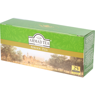 Ahmad Tea - Green Tea Pure - 25 Tagged Teabags