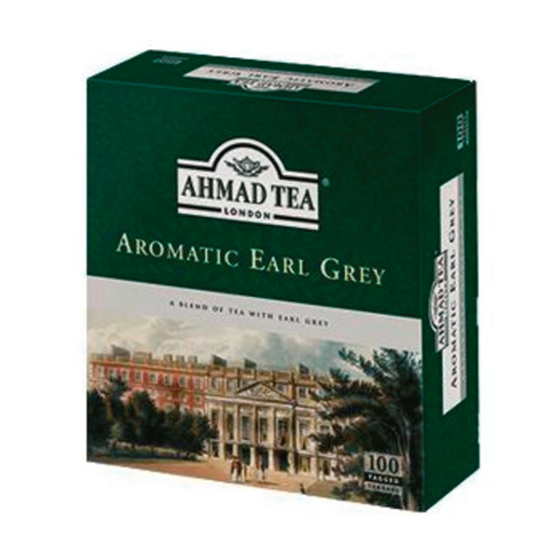 Ahmad Tea -  Aromatic Earl Grey - 100 Tagged Teabags