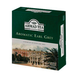 Ahmad Tea - Aromatic Earl Grey - 100 Teebeutel mit Band