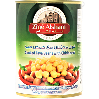 Zine Alsham Foul with Chickpeas - Cooked Fava Beans with...