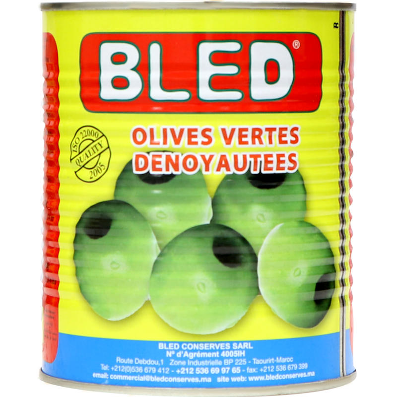 Bled Pitted Green Olives 800g