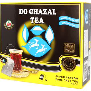 Do Ghazal (Alghazaleen) - Earl Grey Tea - 100 Tagged Teabags