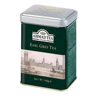 Ahmad Tea - Aromatic Earl Grey - Loose Tea 100g Tea Caddy