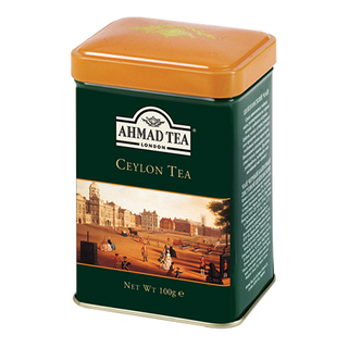 Ahmad Tea - Ceylon Tea - Loose Tea 100g Tea Caddy
