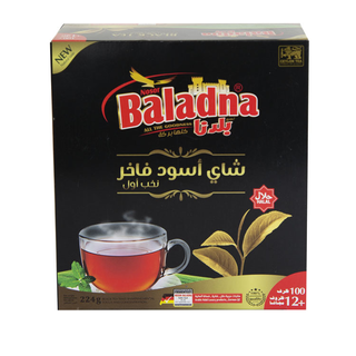 Baladna Black Tea Super 224g (100 Pack + 12)