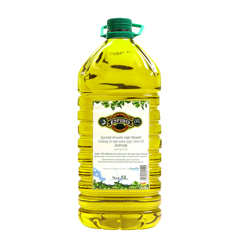 Espido Roghan Zeitoon - Cooking Oil with extra Virgin Olive Oil 5000ml