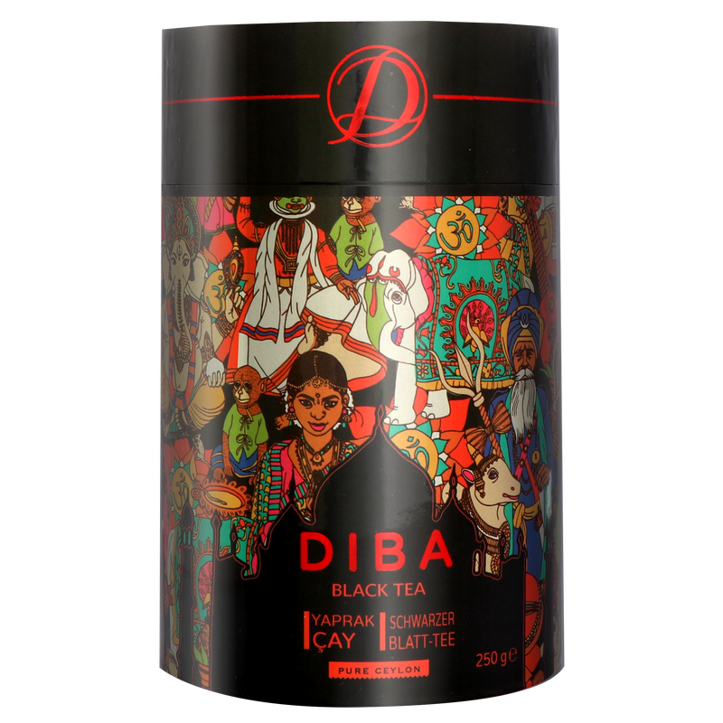 Diba Tea - Ceylon Black Tea - Loose Tea 250g Tea Canister