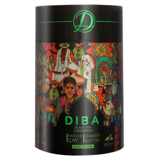 Diba Tea - Ceylon Tea with real Cardamom - Loose Tea 250g...
